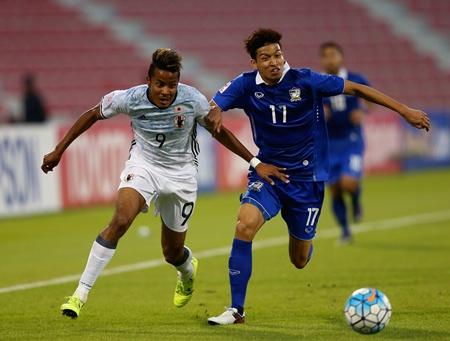 ยู-23 ชิงแชมป์เอเชีย ไทย 0-4 ญี่ปุ่น