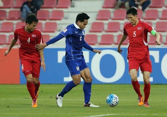 เอเอฟซี ยู-23 ไทย 2-2 เกาหลีเหนือ แชมเปียนชิป 2016