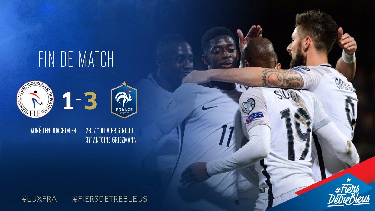 ลักเซมเบิร์ก 1-3 ฝรั่งเศส